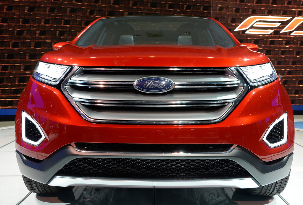 . Nov 20,2013 Los Angeles CA. USA. The new Ford EDGE concept on display during the 2013 Los Angeles Auto Show. Photo by Gene Blevins/LA Daily News