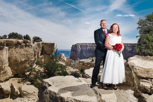 Rhonda and Ryan   Moran Point   Grand Canyon