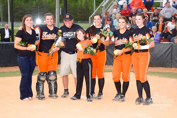 NDHS Softball vs West Forsyth 2013 - Senior NIght