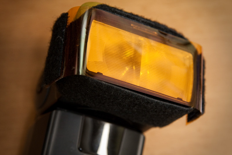CTO (amber colored) gel corrects for tungsten, halogen, and incandescent indoor lighting