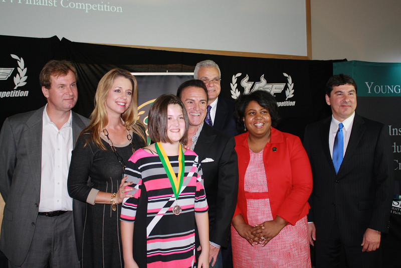 Hannah Fowler with the Finalist Judges