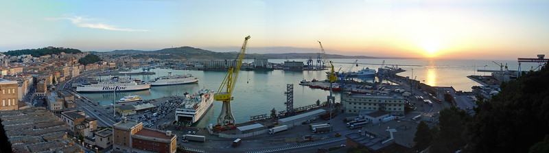 Port at Sunset - Ancona, Italy - August 2005