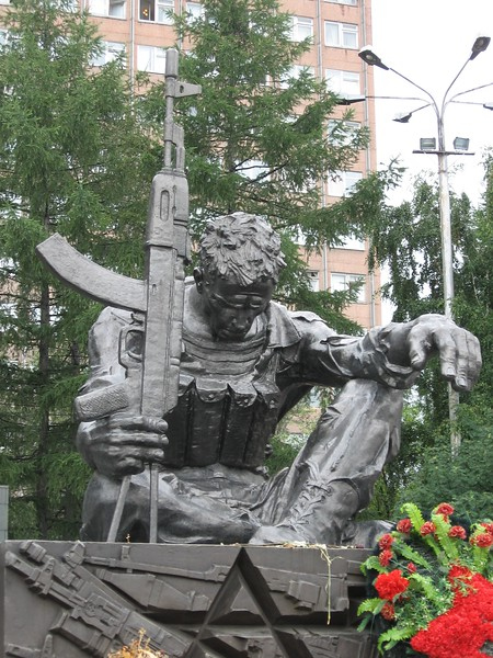 Ekaterinburg memorial for Afghanistan soldiers - Leslie Rowley