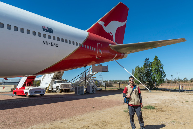 Stephen at the Qantas Founders Museum.