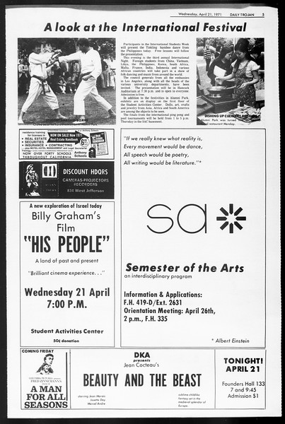 Daily Trojan, Vol. 62, No. 107, April 21, 1971