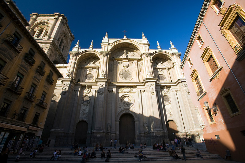 Facade of the Cathedral, Granada, Spain