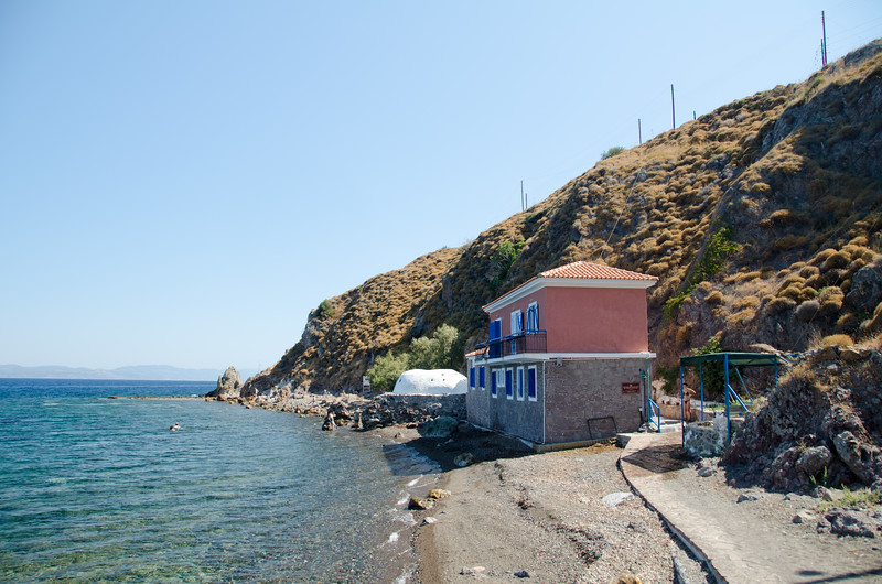 Eftalau Hot Springs, Lesvos, Greece.