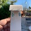 4.20ctw Blue Zircon Dangle Earrings 7