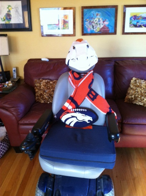 . A wheel Bronco fan. Roll them over!!  Photo by Lee Lewis