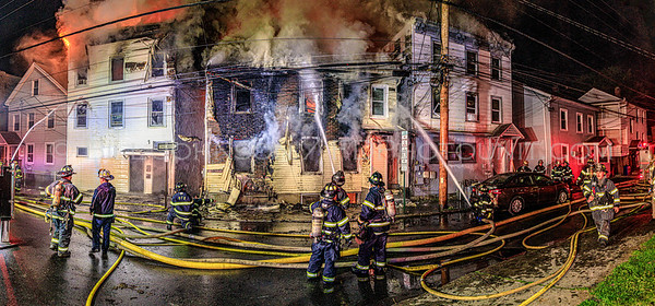 Residential Structure Fires involving 5 structures  - 11,13, and 15 Duane Street - City of Poughkeepsie Fire Department -5/19/20
