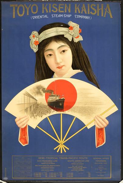Toyo Kisen Kaisha = Oriental Steam-Ship Company [Woman with a fan]