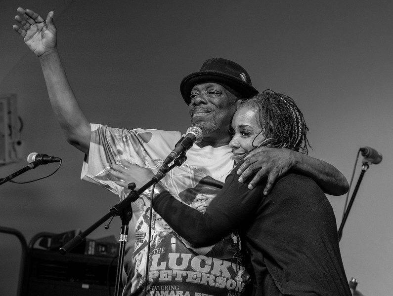 Lucky Peterson with his wife Tamara. Now I know why he is called lucky!