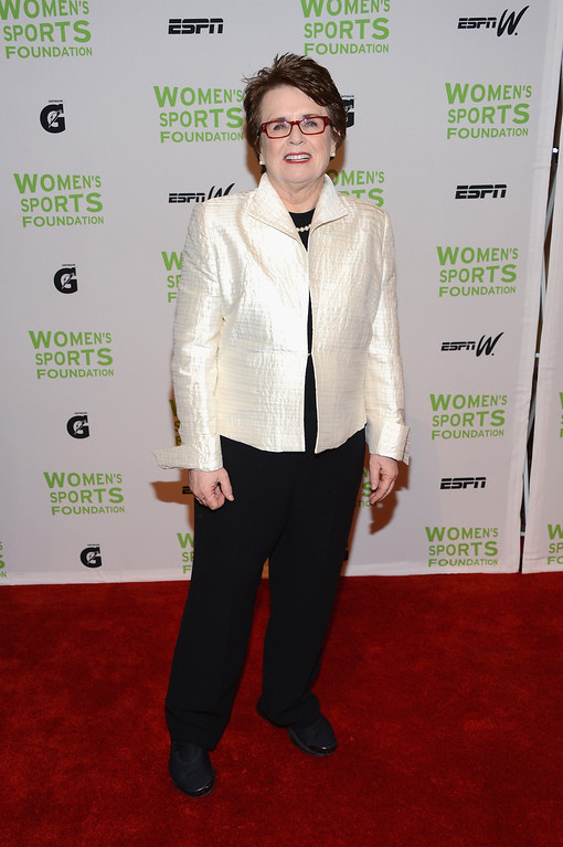 . NEW YORK, NY - OCTOBER 17:  Former tennis player Billie Jean King attends the 33rd Annual Salute To Women In Sports Gala at Cipriani Wall Street on October 17, 2012 in New York City.  (Photo by Jason Kempin/Getty Images)