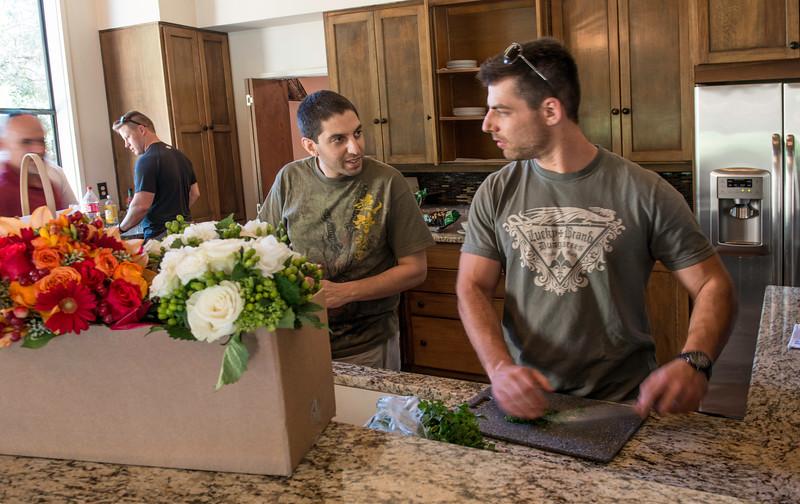 Wedding Day Boys in the kitchen.jpg
