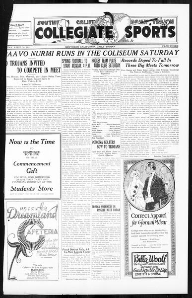 Daily Trojan, Vol. 16, No. 91, April 24, 1925