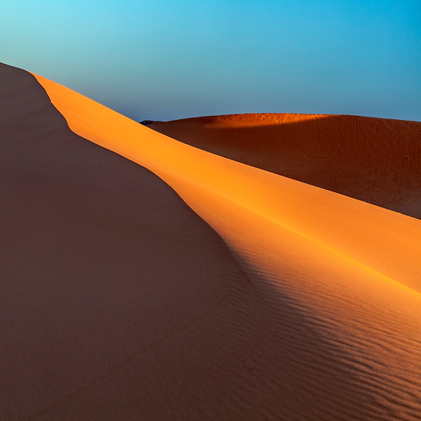 Coral Pink Sand Dunes at Sunset