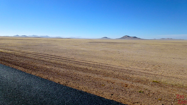 Road trip through South Namibia: flat landscape