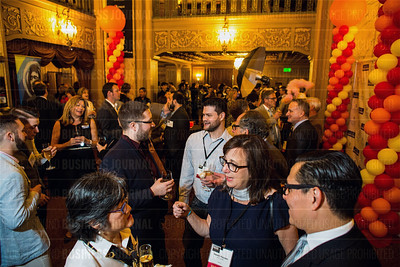 Over 500 people attended the Puget Sound Business Journal's The Business Of Pride event at the Paramount Theatre in Seattle on Thursday, May 26, 2016. (BUSINESS JOURNAL PHOTO | Dan DeLong)