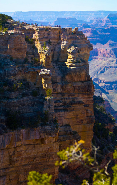 This is a high res verticval panorama I took of Mathers Point near the Grand Canyon Village.