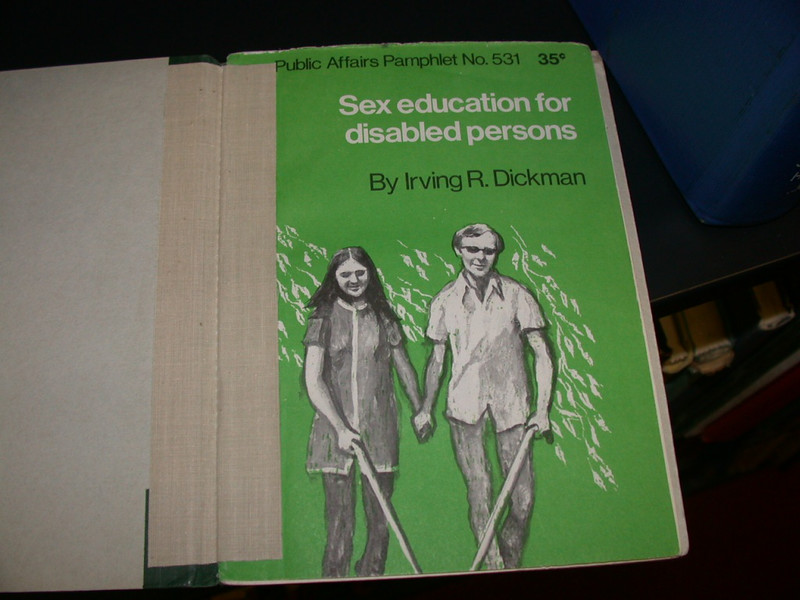 "They have such great books at the library: ""Sex education for disabled persons"""