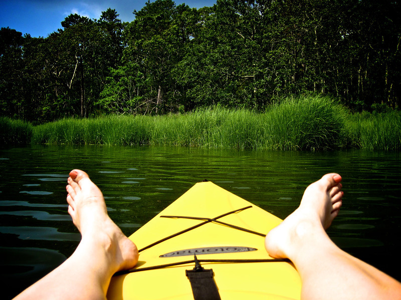 Kayaking off Indian Island County Park.