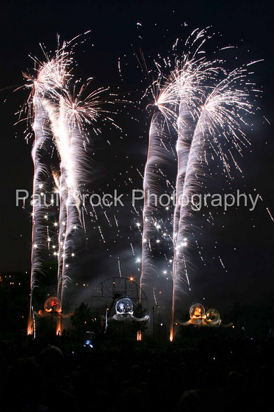'Full Circle' fireworks,Greenwich and Docklands Festival, London, 21 June 2008