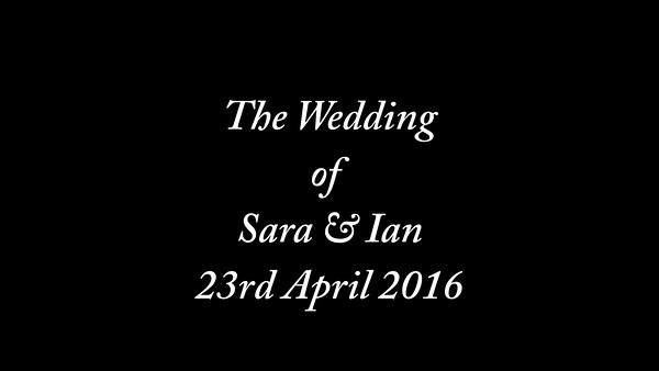 Sara & Ian wedding video