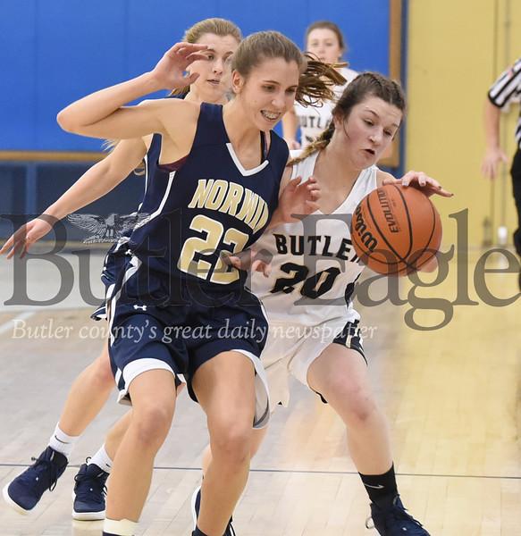 28928 Butler vs Norwin  WPIAL 6A section 1 girls basketball game at Butler