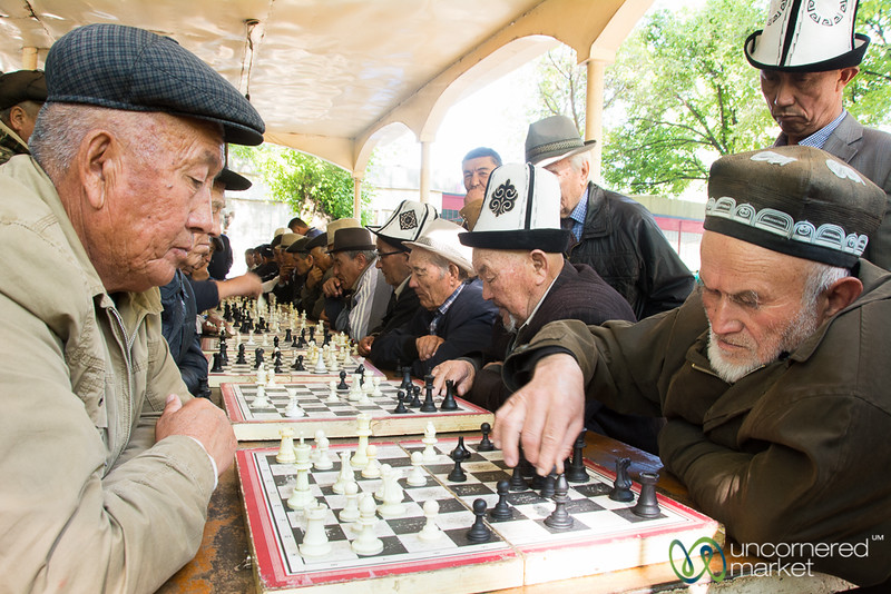 Chess in the Park - Osh, Kyrgyzstan