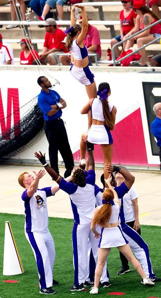 Dramatic ECU cheerleader dismount