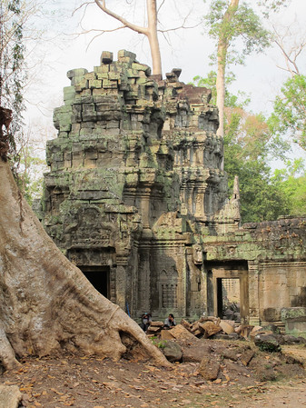 """Ta Prohm in Siem Reap province.  We looked for Lara Croft (Angolie Jolie) of """"Tomb Raider"""" fame, but we missed her."""