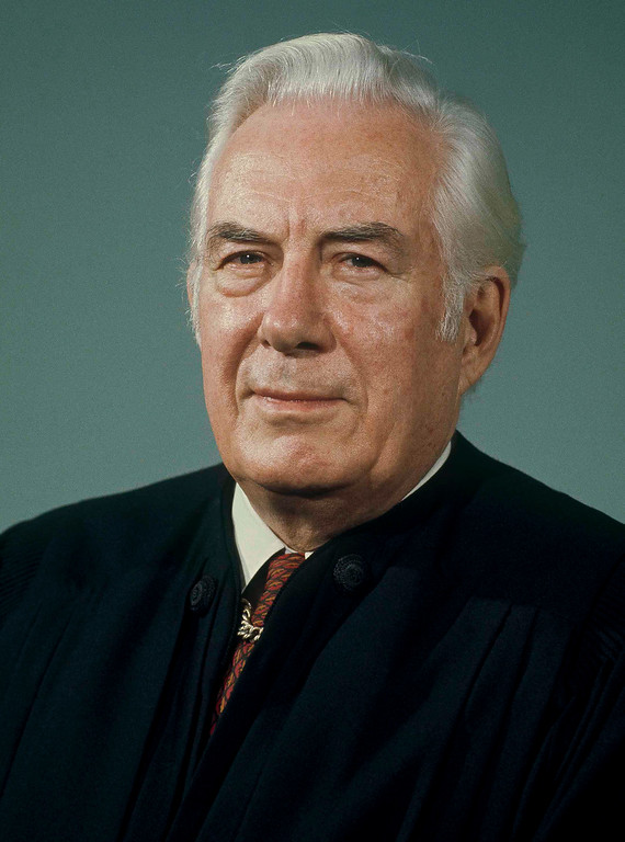 . Warren E. Burger, Chief Justice of the U.S. Supreme Court, location unknown on Feb. 5, 1976. (AP Photo/Pool/UPI)