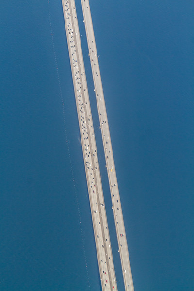 Aerial view of Lake Pontchartrain Causeway - USA