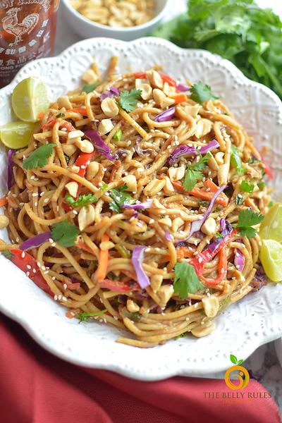 Vegan Thai recipes - Instant Pot Spicy Thai Noodle Bowl