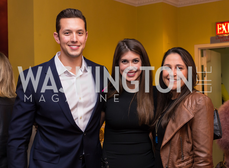 Ross Uhrich, Jessica Altman, Lindsay Robinson Young Patrons National Theatre Fundraiser November 30, 2017 Photo by Naku Mayo