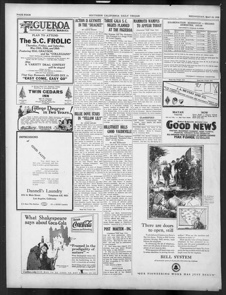 Daily Trojan, Vol. 19, No. 140, May 23, 1928