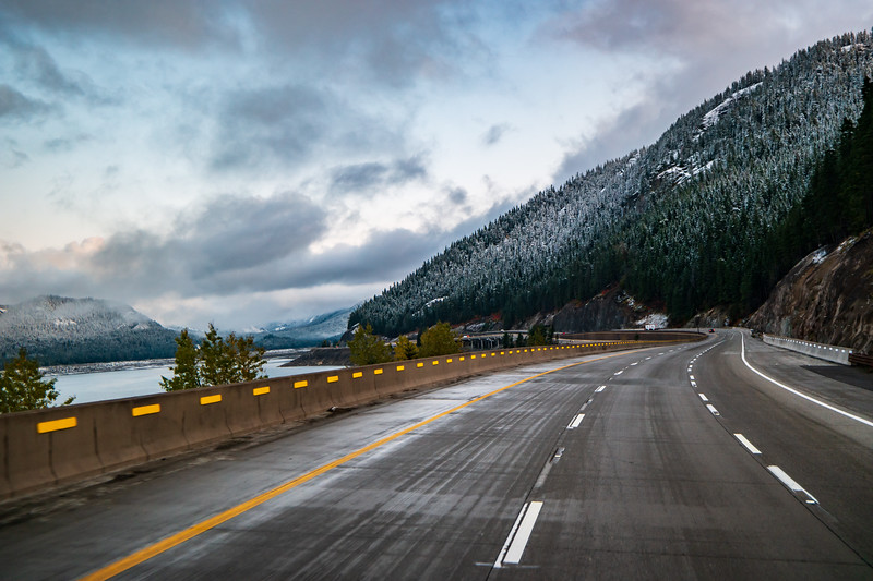 Snoqualamie Pass Washington Area In Fall