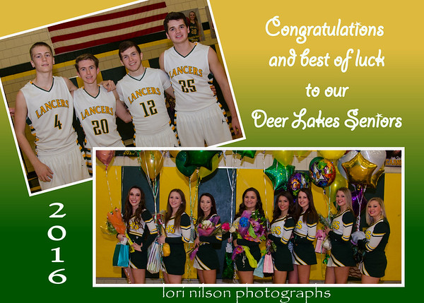2016 Basketball Senior NIght