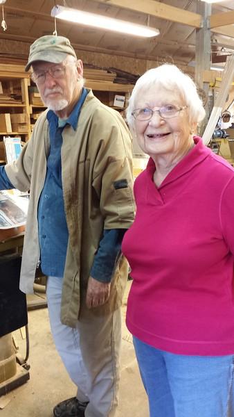 Kati at Lou Landry's woodturning shop