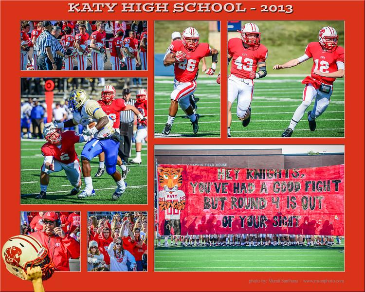 11-29-2013 - Katy High School - Football (M) - Katy Tigers Team VS Elkins Knights