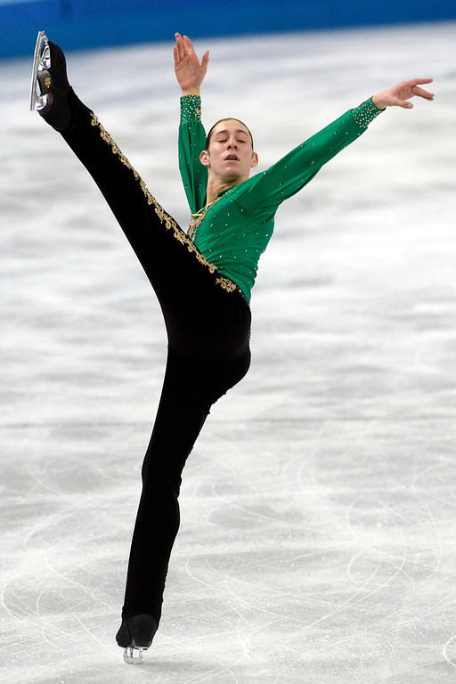 . American Jason Brown performs during the men\'s figure skating free skate. Sochi 2014 Winter Olympics on Friday, February 14, 2014. (Photo by AAron Ontiveroz/The Denver Post)