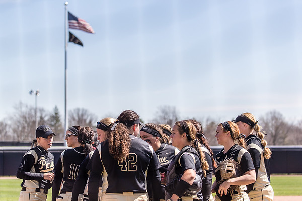 Purdue Softball vs Iowa 2017-4-1 Game 2