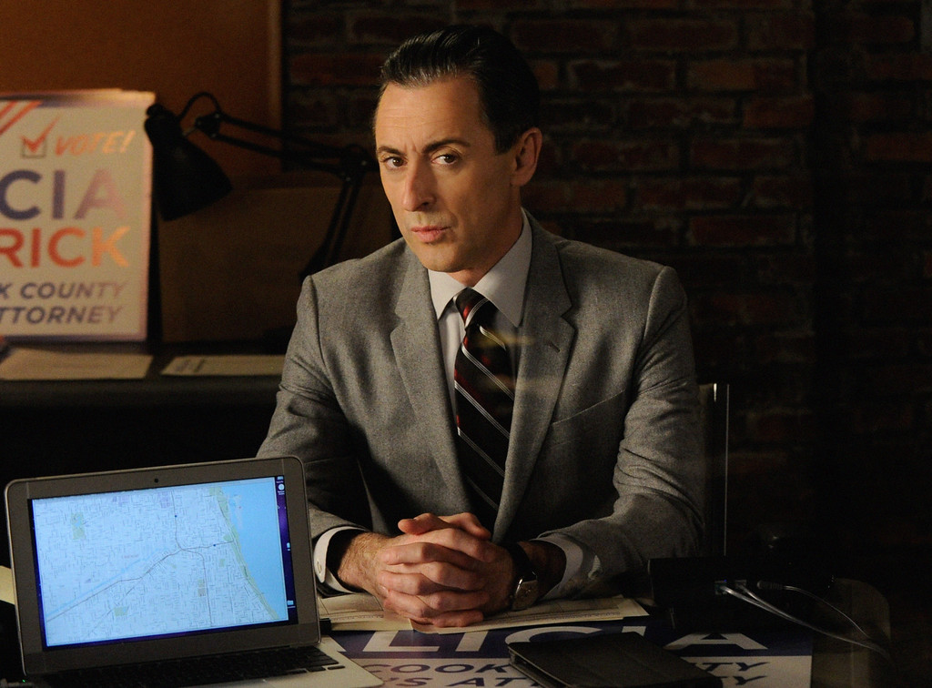""". In this image released by CBS, Alan Cumming portrays Eli Gold in a scene from \""""The Good Wife.\"""" Cumming was nominated for a Golden Globe for best supporting actor in a series or mini-series for his role on Thursday, Dec. 11, 2014. The 72nd annual Golden Globe awards will air on NBC on Sunday, Jan. 11. (AP Photo/CBS, Jeffery Neira)"""