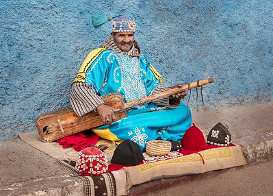 Ray Stabey - Busker, Rabat Morocco