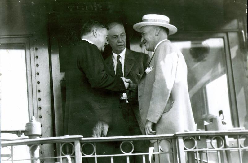 President Herbert Hoover,A.P.Bigelow,J U Eldredge Jr