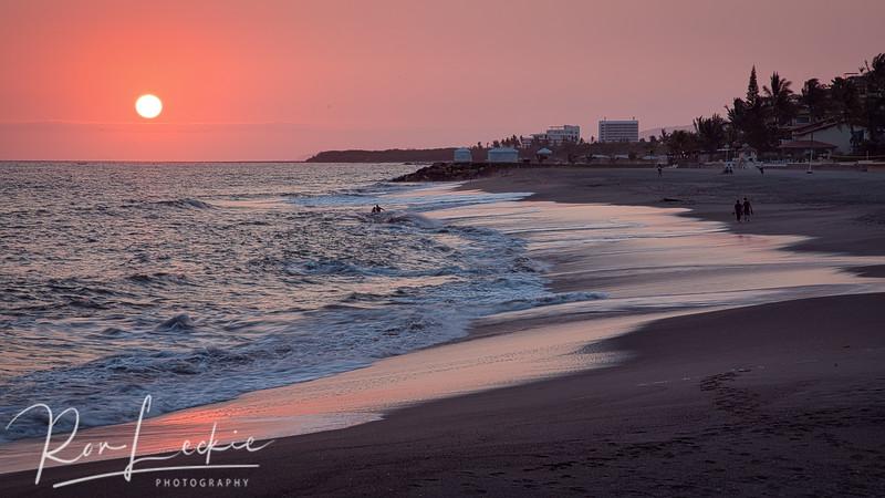 Sunset on the Marriott beach