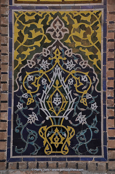 detail tiles at Tilya Kori Madrasah