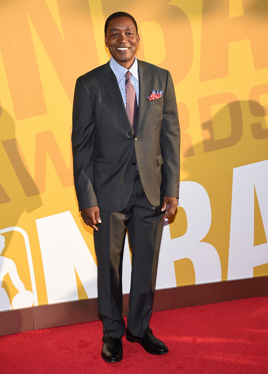 . Isiah Thomas arrives at the NBA Awards at Basketball City at Pier 36 on Monday, June 26, 2017, in New York. (Photo by Evan Agostini/Invision/AP)