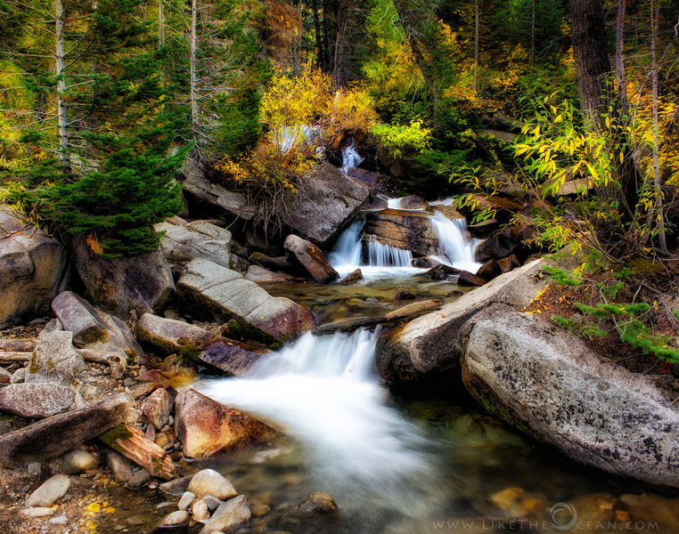 Autumn Waterfall from Cottonwood Canyon