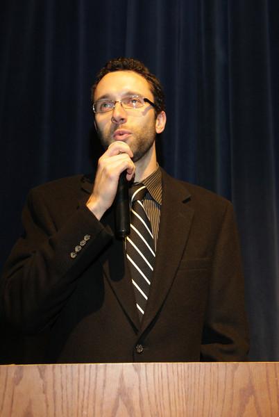 Awards Night 2012 - Mr. Waugh takes a jab at Mr. Hubeler